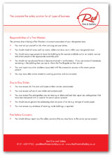 Responsibilities for a fire warden -  document